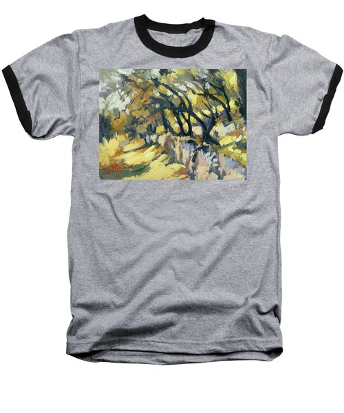 Stone Wall Olive Grove Terrace Baseball T-Shirt