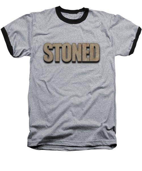 Stoned Tee Baseball T-Shirt by Edward Fielding