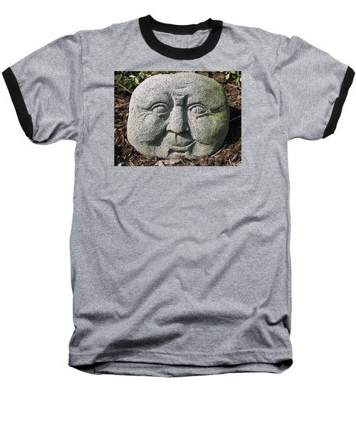 Baseball T-Shirt featuring the photograph Stoneface by Charles Kraus