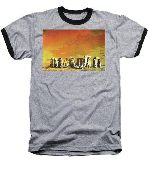 Stonehenge Ruins Baseball T-Shirt by Ryan Fox