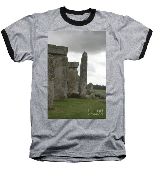 Stonehenge Side Pillars Baseball T-Shirt by Mary Mikawoz