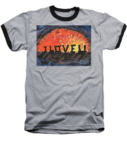 Stonehenge Sunrise Baseball T-Shirt