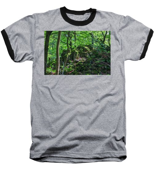 Stones In A Forest In Vogelsberg Baseball T-Shirt