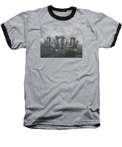 Baseball T-Shirt featuring the painting Stones Of Time  by Megan Walsh