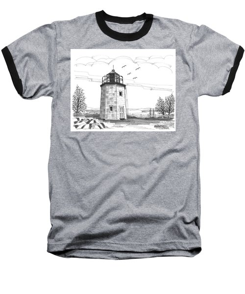 Stony Point Lighthouse Baseball T-Shirt