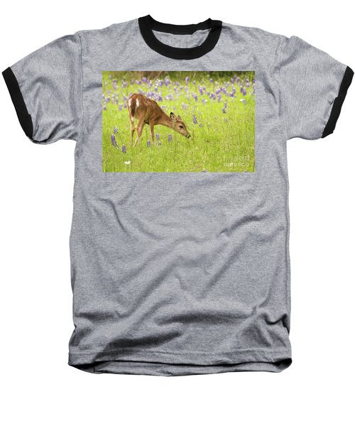 Stop And Smell The Bluebonnets. Baseball T-Shirt
