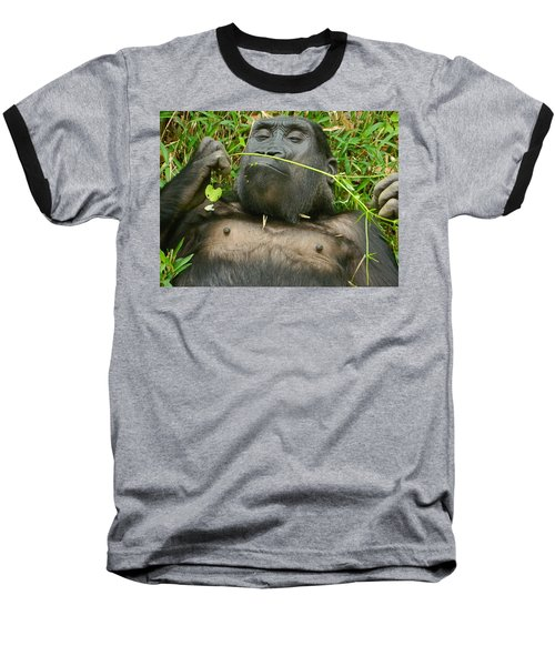 Stop And Smell The Grass Baseball T-Shirt by Emmy Marie Vickers