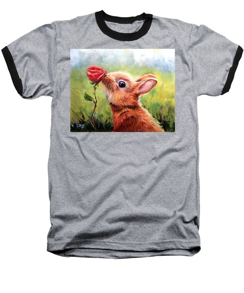 Stop And Smell The Roses Baseball T-Shirt
