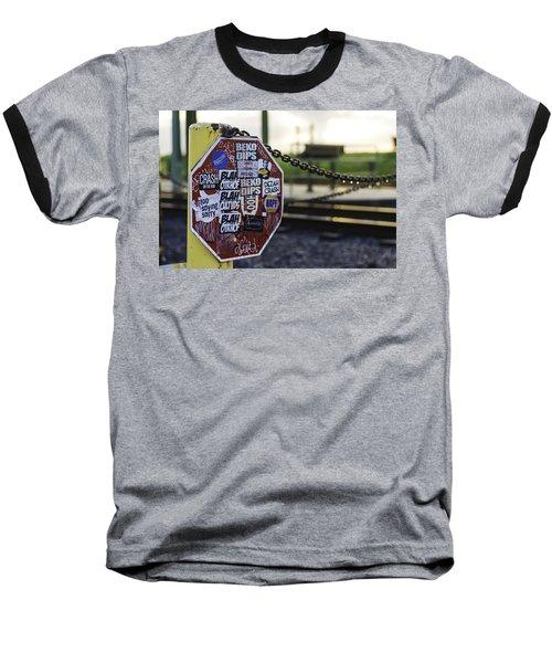 Stop Sign Ala New Orleans, Louisiana Baseball T-Shirt
