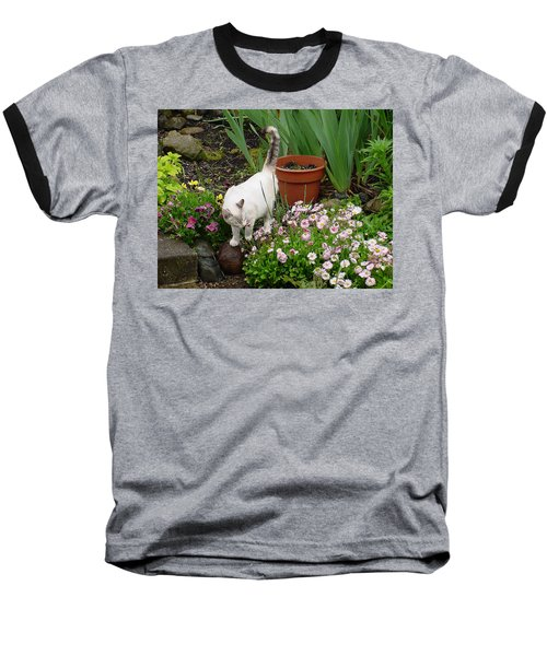Stop To Smell Flowers Baseball T-Shirt
