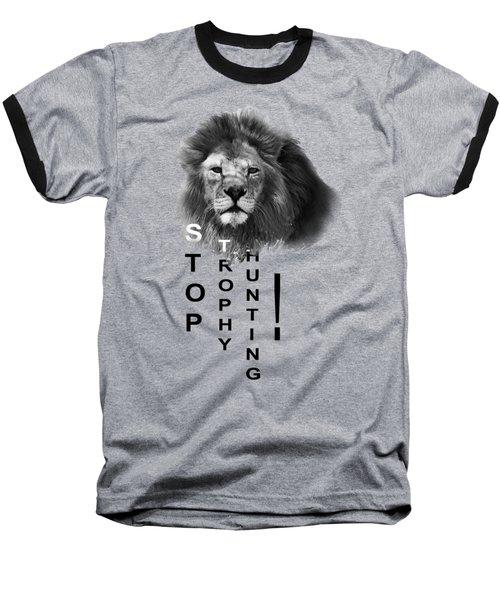 Stop Trophy Hunting Baseball T-Shirt by Jivko Nakev