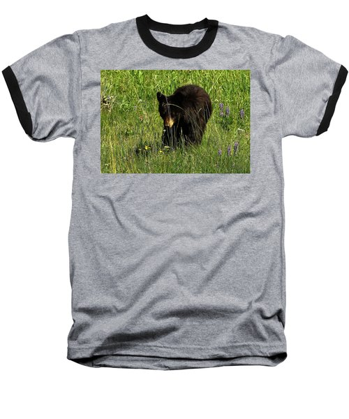 Stopping To Smell The Flowers Baseball T-Shirt