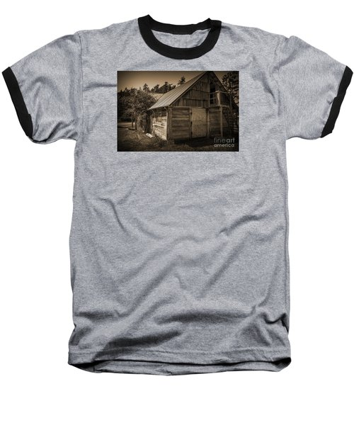 Baseball T-Shirt featuring the photograph Storage Shed In Sepia by Kirt Tisdale