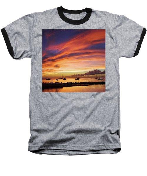 Store Bay, Tobago At Sunset #view Baseball T-Shirt