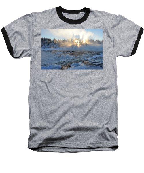 Storforsen, Biggest Waterfall In Sweden Baseball T-Shirt by Tamara Sushko