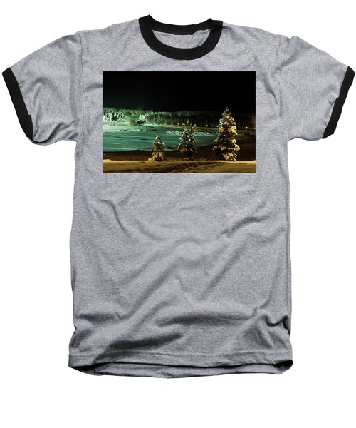 Storforsen In Night Baseball T-Shirt by Tamara Sushko
