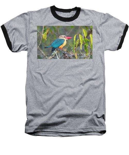 Stork-billed Kingfisher Baseball T-Shirt