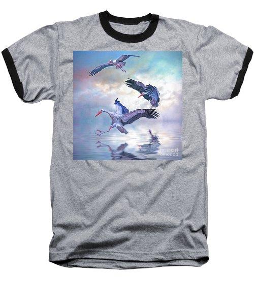Storks Landing Baseball T-Shirt