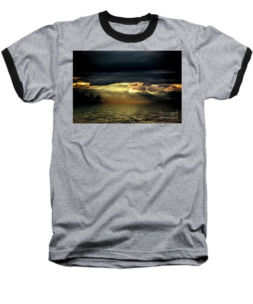 Storm 4 Baseball T-Shirt by Elaine Hunter
