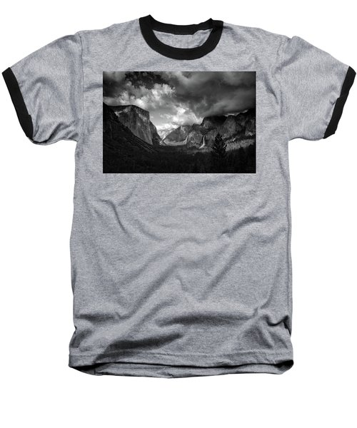 Storm Arrives In The Yosemite Valley Baseball T-Shirt