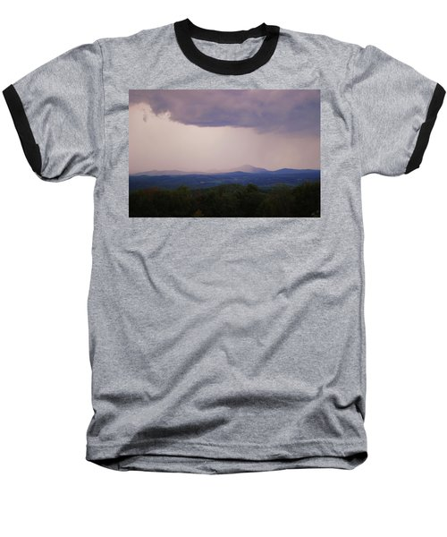 Storm At Lewis Fork Overlook Baseball T-Shirt