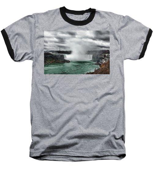 Storm At Niagara Baseball T-Shirt