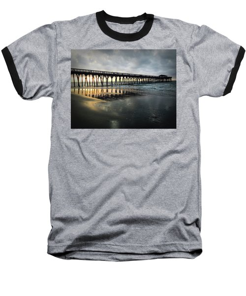 Storm At Sunrise In Color Baseball T-Shirt by Kelly Hazel
