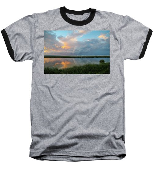 Storm Cloud Reflections At Sunset Baseball T-Shirt