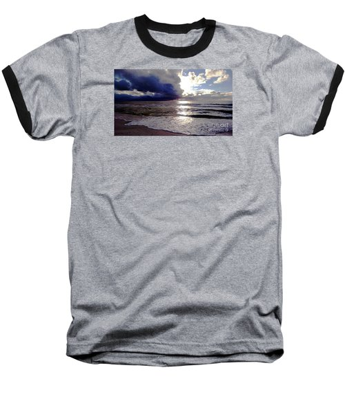 Baseball T-Shirt featuring the photograph Storm Clouds 1 by Vicky Tarcau