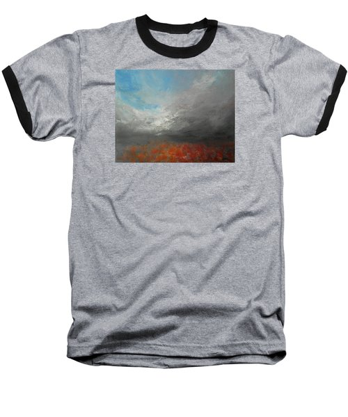 Baseball T-Shirt featuring the painting Storm Clouds by Jane See