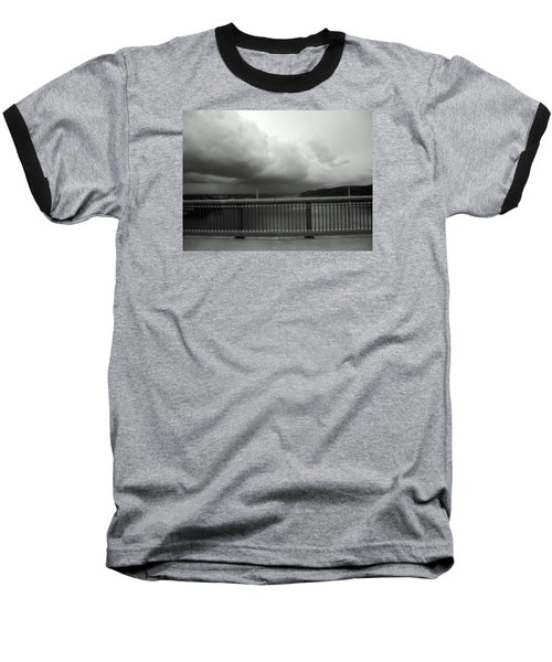 Storm Clouds On The Hudson Baseball T-Shirt