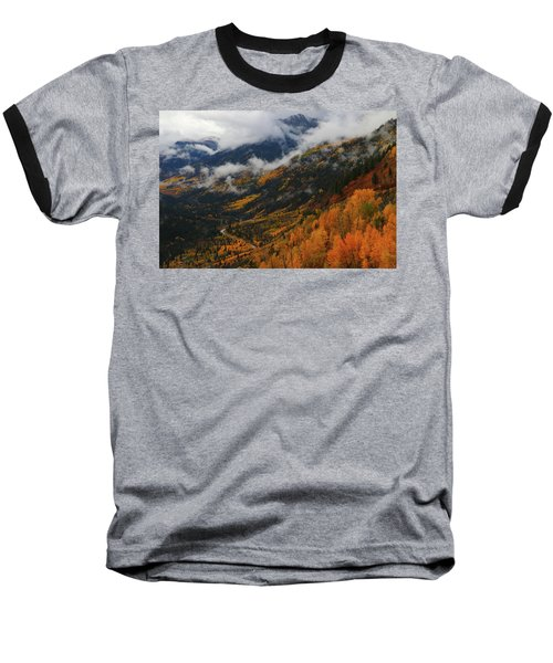 Storm Clouds Over Mcclure Pass During Autumn Baseball T-Shirt