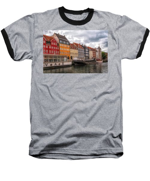 Storm Clouds Over Nyhavn Baseball T-Shirt