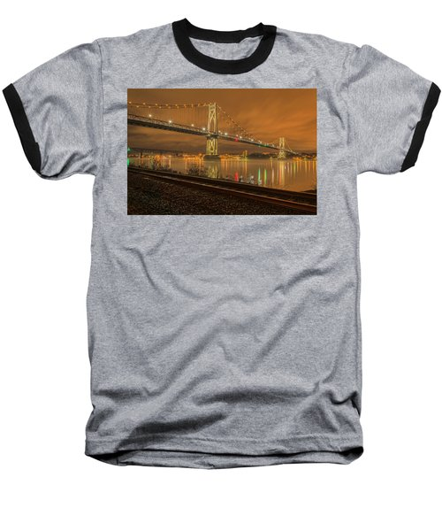 Storm Crossing Baseball T-Shirt by Angelo Marcialis