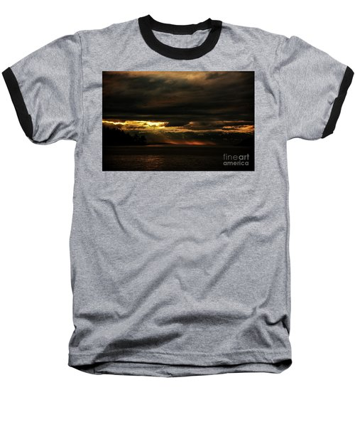 Storm Baseball T-Shirt by Elaine Hunter