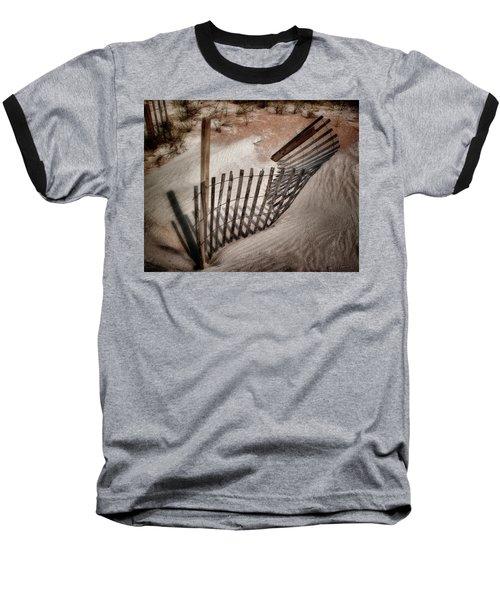 Storm Fence Series No. 2 Baseball T-Shirt
