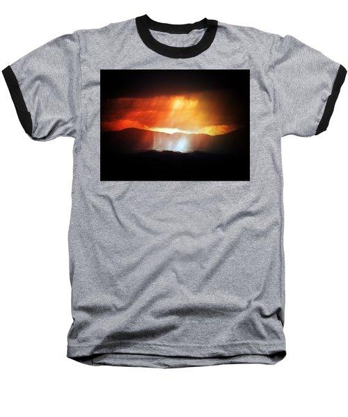 Storm Glow Night Over Santa Fe Mountains Baseball T-Shirt