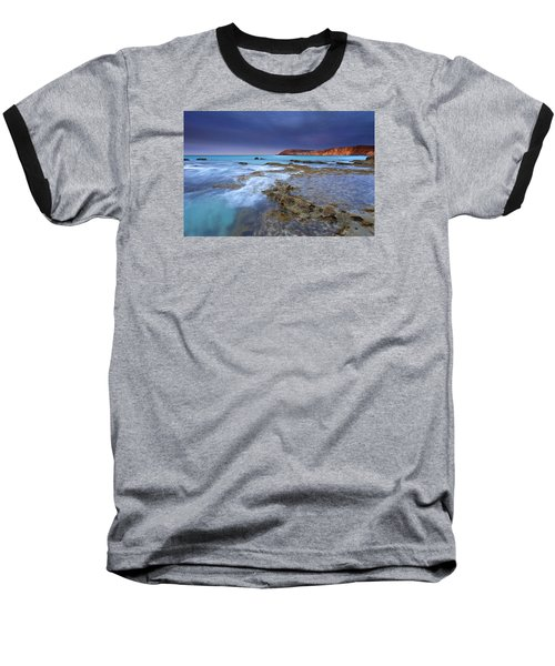 Storm Light Baseball T-Shirt by Mike  Dawson