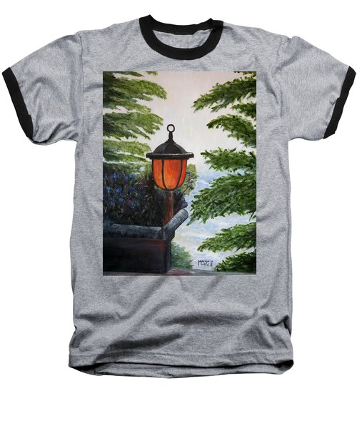 Baseball T-Shirt featuring the painting Storm On Lake Of The Woods by Marilyn  McNish