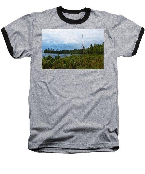 Storm On Raquette Lake Baseball T-Shirt