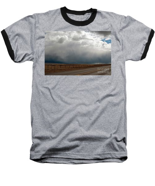 Storm On Route 287 N Of Ennis Mt Baseball T-Shirt by Cindy Murphy - NightVisions