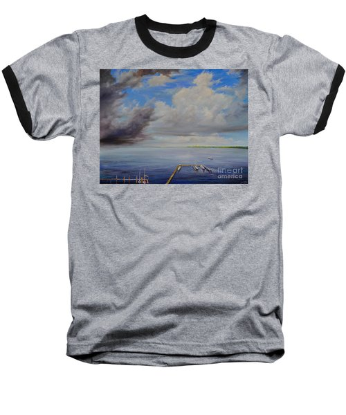 Storm On The Indian River Baseball T-Shirt