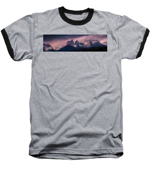 Baseball T-Shirt featuring the photograph Storm On The Peaks by Andrew Matwijec