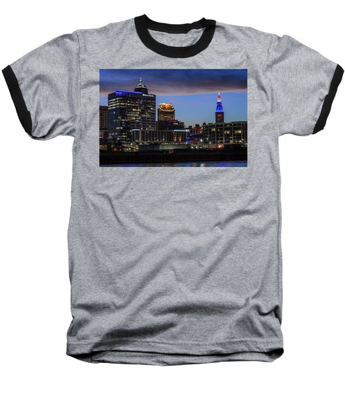 Storm Over Cleveland Baseball T-Shirt