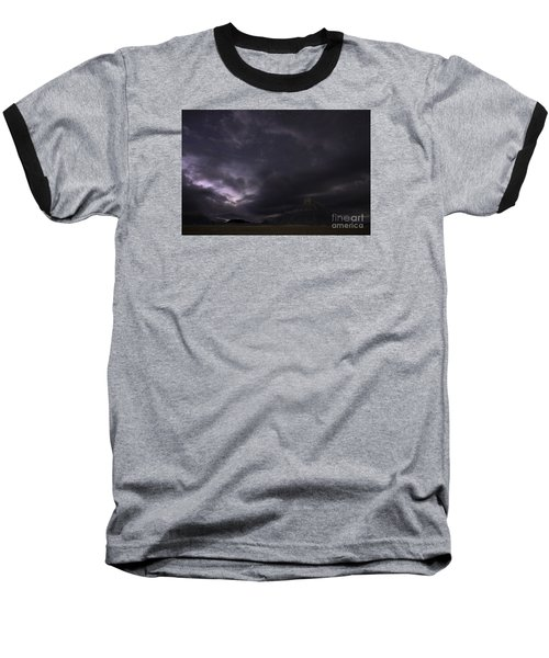 Baseball T-Shirt featuring the photograph Storm Over Factory Butte by Keith Kapple