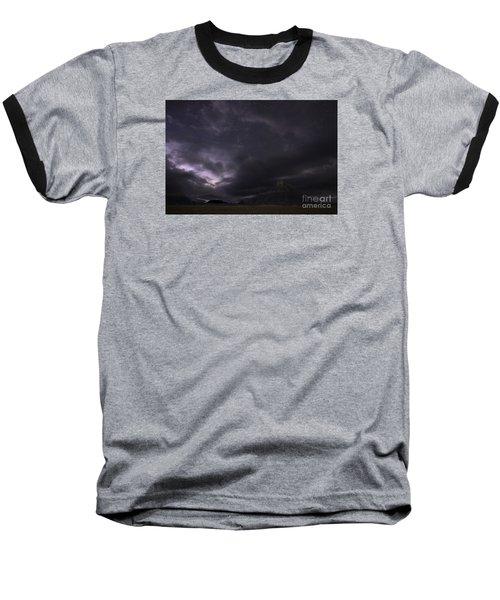 Storm Over Factory Butte Baseball T-Shirt