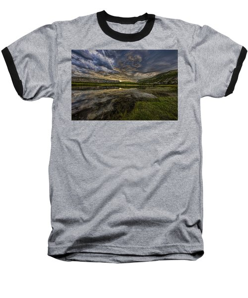 Storm Over Madison River Valley Baseball T-Shirt