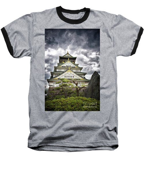 Storm Over Osaka Castle Baseball T-Shirt