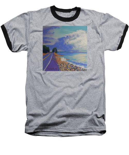 Storm Over Queensland Beach Baseball T-Shirt by Rae  Smith