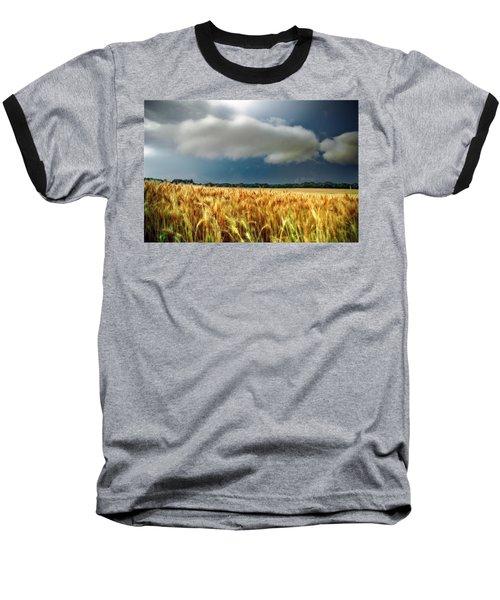 Storm Over Ripening Wheat Baseball T-Shirt